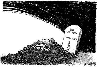 Pat Tillman cover-up, cartoon