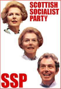 Thatcher morphing into Blair, SSP poster