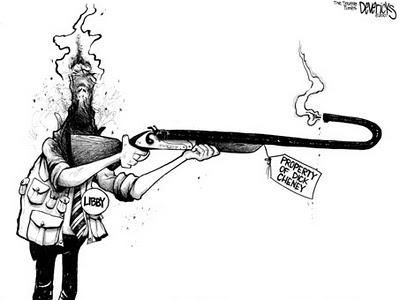 Libby and Cheney, cartoon