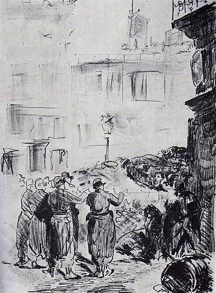 Manet, repression of the Paris Commune, 1871