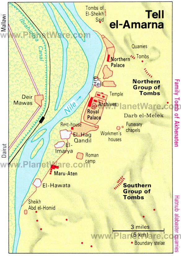 Tell-el-Amarna map