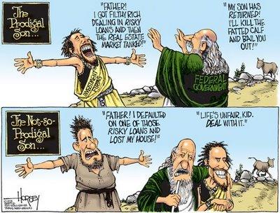 Financial crisis cartoon