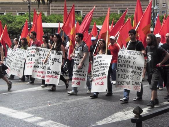 Greek workers demonstration