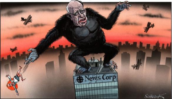 King Kong Murdoch cartoon