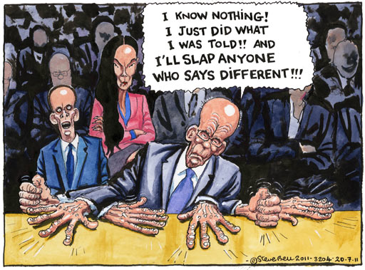 Rupert Murdoch, cartoon