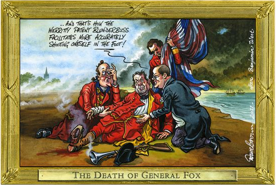 Liam Fox scandal, cartoon