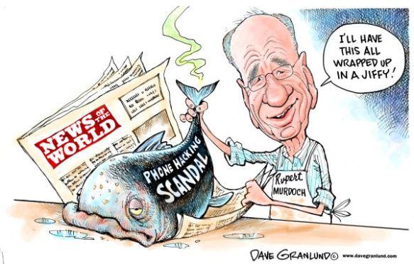Murdoch's phone hacking scandal, cartoon