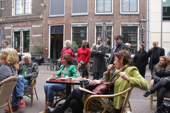 Audience in Haarlem, 17 May 2012, while I read my poems