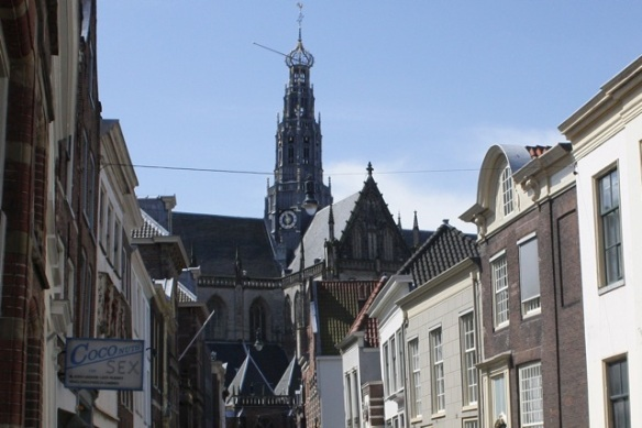 Haarlem, 17 May 2012, near the medieval main church