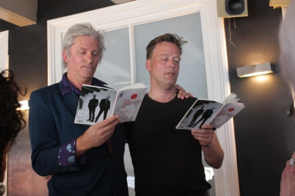 Rick de Leeuw and Erik Jan Hermens reading their poetry, Haarlem, 17 May 2012
