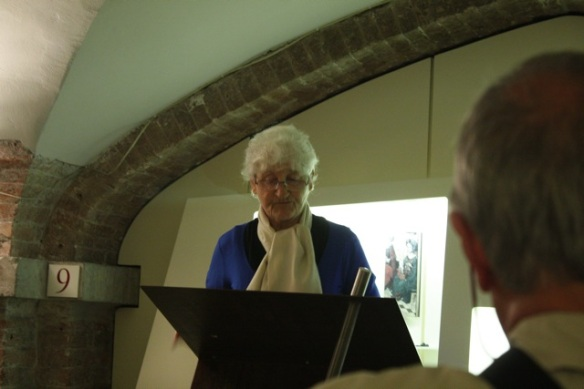 Til Schaap reading a poem, archaeological museum, Haarlem, 17 May 2012