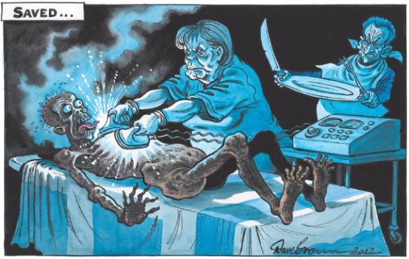Greece 'saved', cartoon