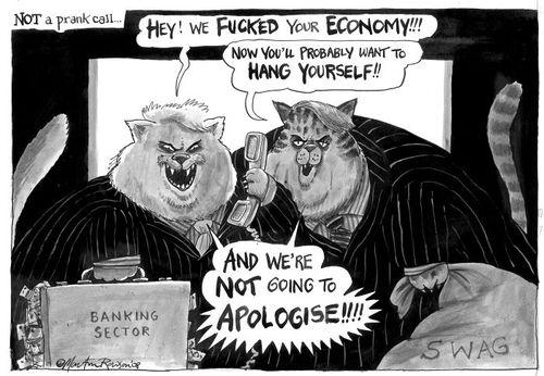 British fat cats, cartoon by Martin Rowson