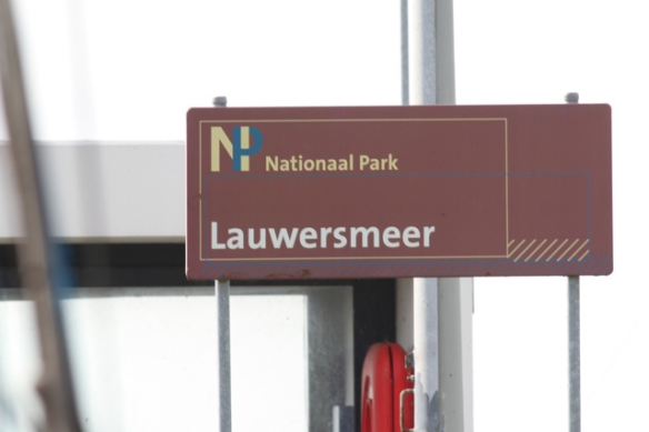 Lauwersmeer national park sign, 30 September 2012