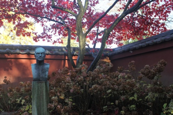 Japanese garden with Von Siebold bust, 11 November 2012