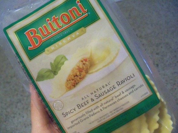 Nestle Buitoni Beef Ravioli, with label not mentioning its horse meat