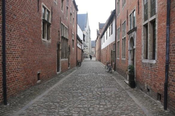 Street, Groot Begijnhof, Leuven, 7 March 2013