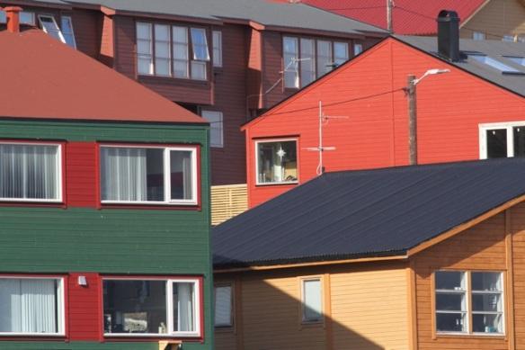 Longyearbyen, Svalbard, eastern buildings