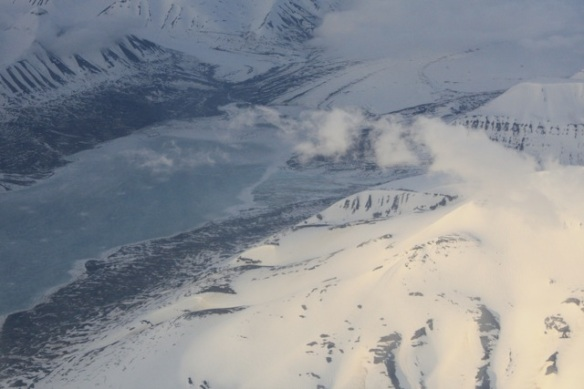 South western Spitsbergen from the air, 2 June 2013
