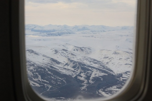 South western Spitsbergen mountains from the air, 2 June 2013
