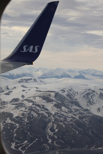 South western Spitsbergen seen from plane, 2 June 2013