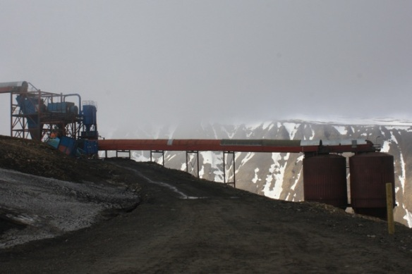 Working mine, Adventdalen, Svalbard, June 2013