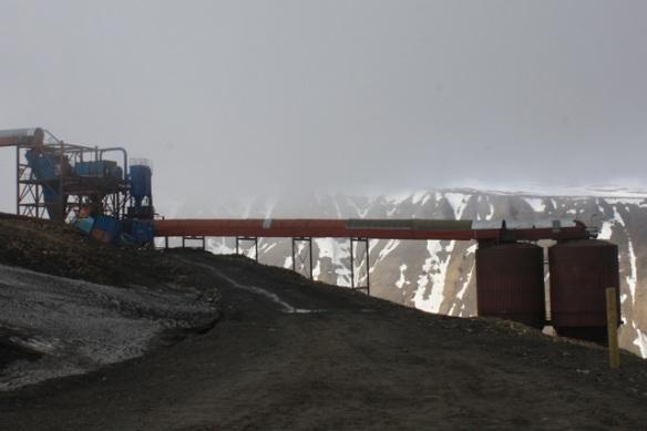 Working mine, Adventdalen, Svalbard, June 2013