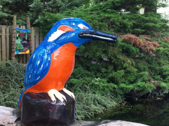 Kingfisher sculpture, Avifauna, 3 August 2013