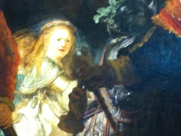 Rembrandt, Night Watch girl, Rijksmuseum