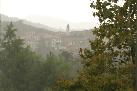 Olivetta in the rain, Italy, 15 September 2013