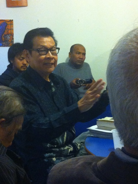 Meeting of Indonesians in Amsterdam, 11 October 2013, Batara Hutagalung with glasses