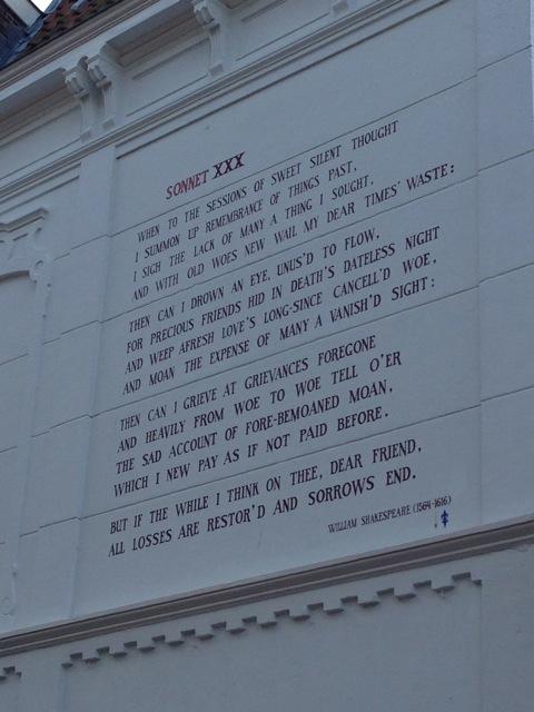 Shakespeare sonnet, 8 September 2014