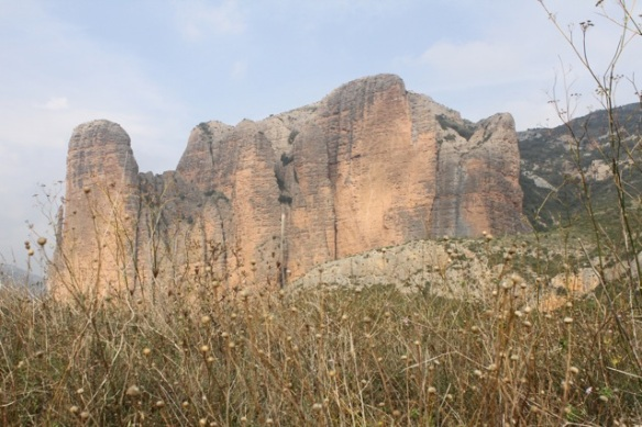 Rock face near Riglos, 2 November 2014