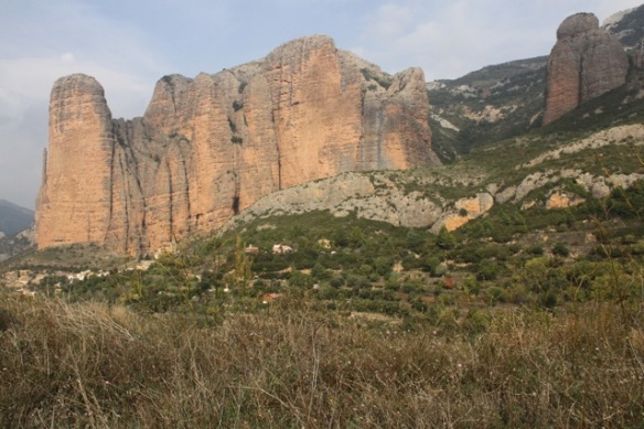 Rock face near Riglos, on 2 November 2014
