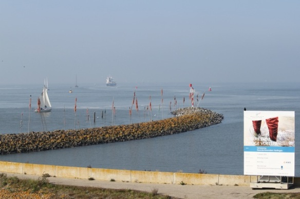 Harlingen causeway, on 2 October 2015