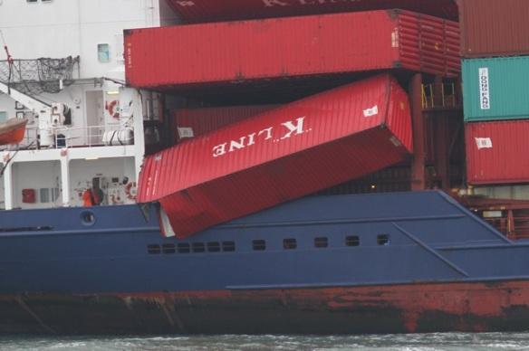 Maasvlakte, container ship, 24 October 2015