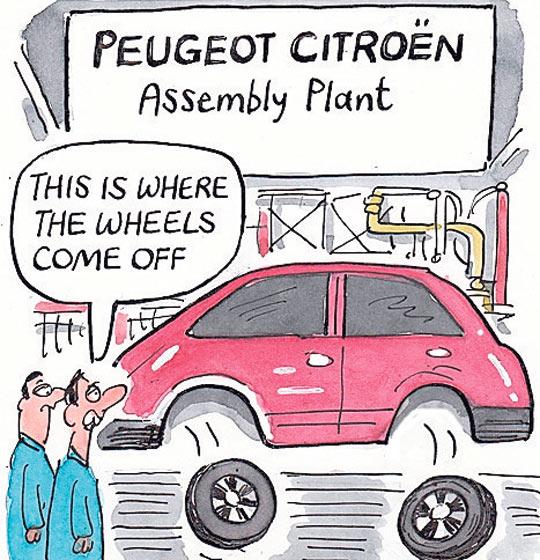 Peugeot cartoon