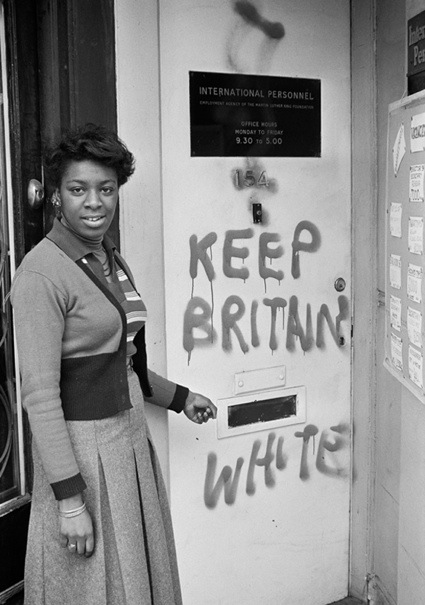 Racist grafitti in Britain