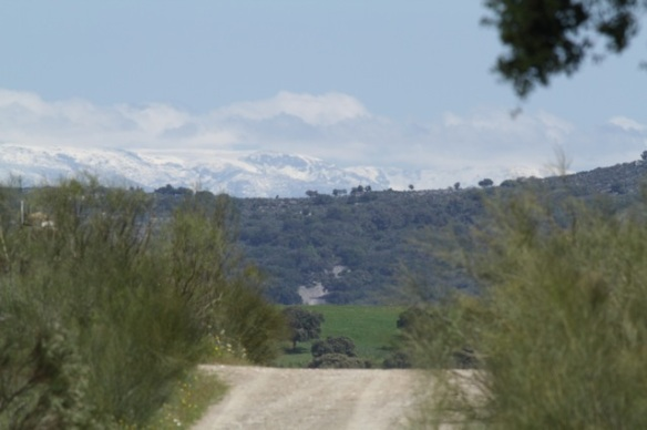 Sierra de Gredos snowy mountains, on 18 April 2016