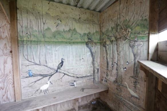 Mural in hide, 18 June 2016