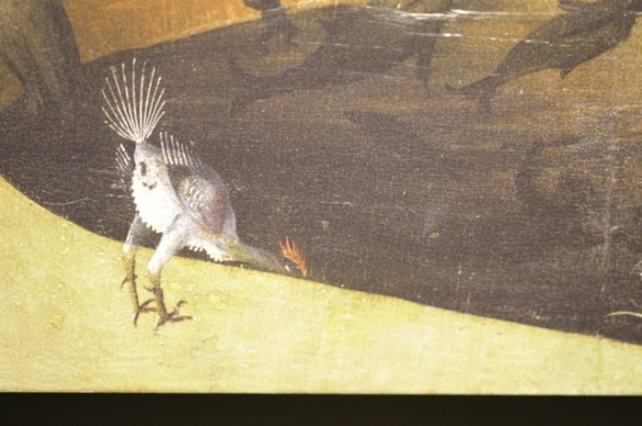 Bird drinking, by Hieronymus Bosch