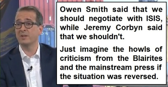 Owen Smith, Jeremy Corbyn and ISIS