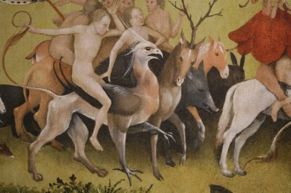 Griffon and deer and wild boar, by Hieronymus Bosch