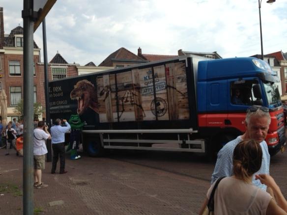 Tyrannosaurus rex truck, on 26 August 2016