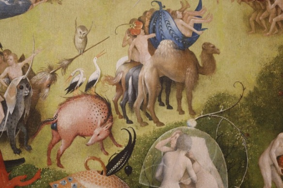 White storks and barn owl, Hieronymus Bosch