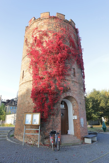 Greifswald, old tower near harbour, 2 October, 2016