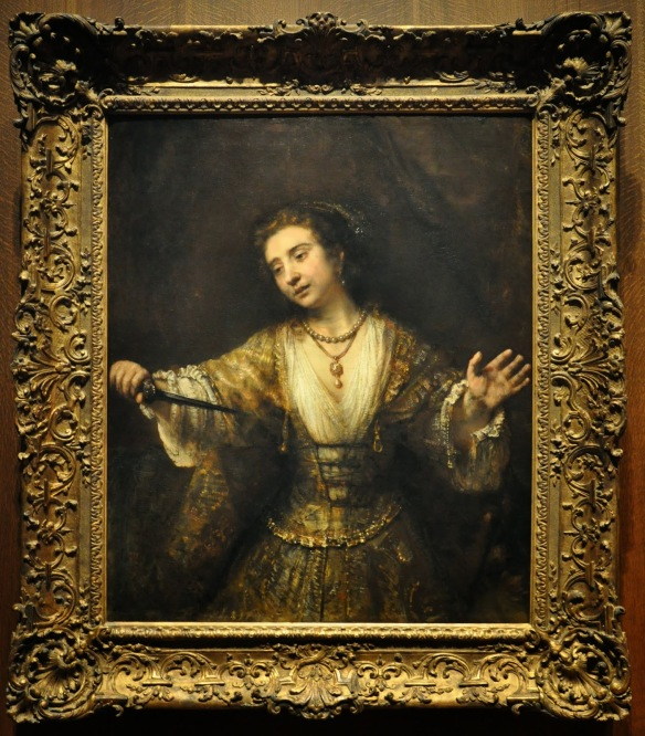 Rembrandt, Lucretia preparing to stab herself