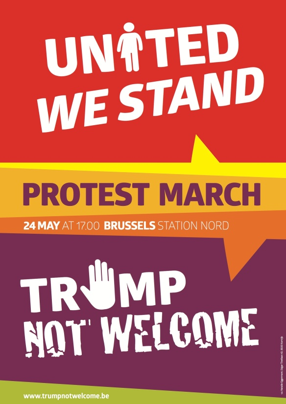 Demonstration against Trump, NATO militarism, Brussels, Belgium, 24 May 2017