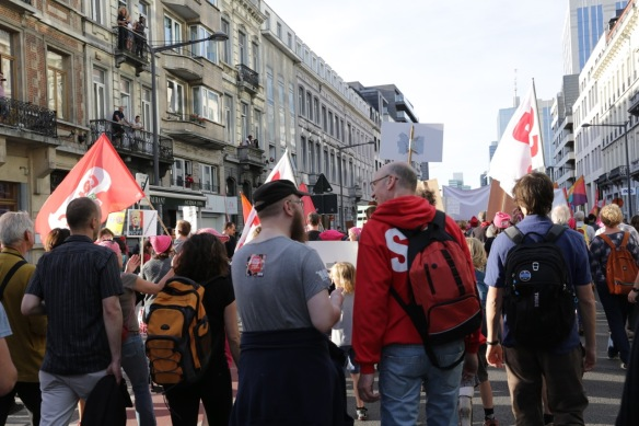 Brussels demonstration against Trump, 24 May 2017