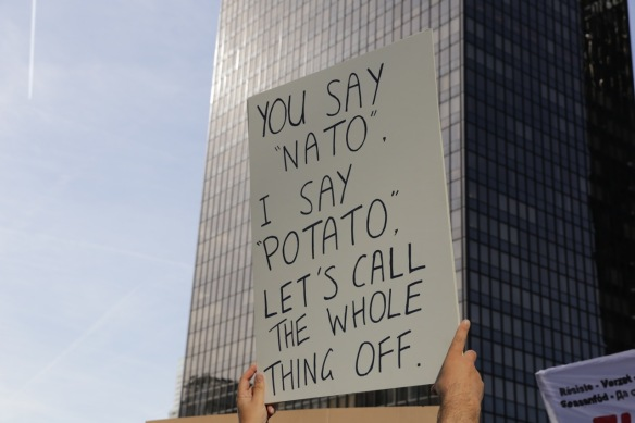 NATO potato sign, 24 May 2017
